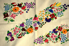 Vtg Hungarian KALOCSA Hand Embroidered Pillow Case