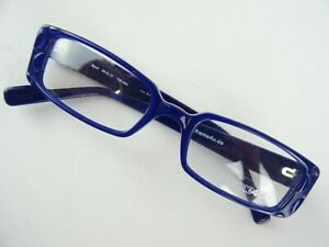 Brillengestelle dunkelblaue Damenbrille rechteckig mit breiten Bügeln Gr. S