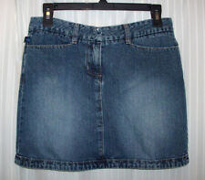 Vintage 90's Tyte Rewash Jeans Factory Faded Distressed Denim Mini Skirt Small S