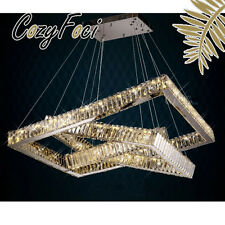 Galaxy Modern LED 3Ring Luxury Crystal Chandelier Pendant Lamp Lighting Fixture