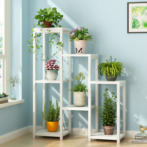 7 Tier Metal Flower Plant Pot Shelf Stand Rack Holder Garden Outdoor Hallyway