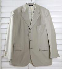 BROOKS BROTHERS Mens $298 Cotton Khaki Beige Sports Coat Blazer Top Size 43 R