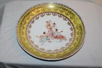 Antique Victorian Cabinet Plate Charger Women Angels Cherubs Victoria Austria