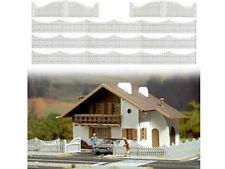 Busch 6009 Gartenzaun Zaun mit Toren weiß 100 cm H0 Bausatz Neu