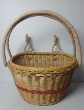 VTG Wicker Woven Bicycle Front Basket with Handles