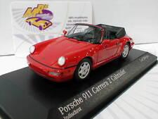 Minichamps 430067330 # Porsche 911 Carrera 2 Cabriolet Baujahr 1990 in rot 1:43