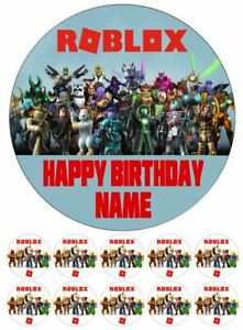 Roblox Edible Cake Toppers Wafer or Icing