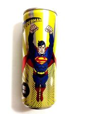 JUSTICE LEAGUE SUPERMAN EMPTY UNOPENED CAN COLLECTORS PIECE VHTF