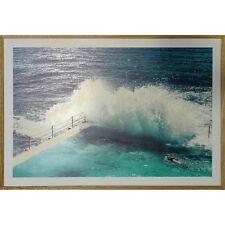 Bondi Waves - Framed Print with Tasmanian Oak Frame