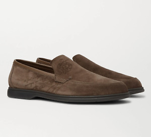 Berluti Paris Latitude Scritto Suede Loafers Moccasins Shoes Slippers Shoes 42