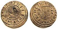 Spain-Felipe IV. 16 Maravedis. 1663. Madrid. EBC/XF. Cobre 4,4 g. Muy bella