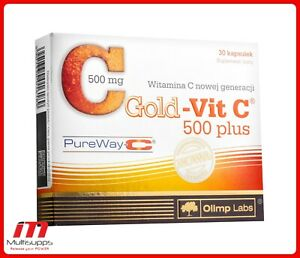 Olimp gold-vit C 500 Plus, High dose Vitamin C for Fitness and Bodybulding 30cap