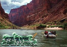 Whitewater Rafting on the Colorado River, Grand Canyon, Arizona, Boat - Postcard
