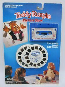 Teddy Ruxpin Picture Show Worlds of Wonder Great Grundo Groundrace Tape Wheels