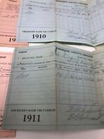 Vintage Historical Original Tax Documents From 1910-1920 Grants Pass Oregon