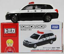 1:61 SCALE TOMICA SHOP EXCLUSIVE TOYOTA COROLLA FIELDER POLICE CAR RARE! JAPAN