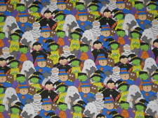 "HALLOWEEN  ""HAPPY HAUNTING""  FABRIC SOLD BY THE YARD"
