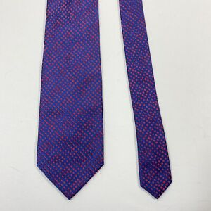 Charvet Place Vendome Tie Navy Pink Jacquard Necktie Luxury Shapes Ties New WOT