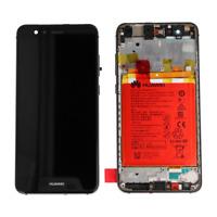 VETRO DISPLAY LCD TOUCH SCREEN + FRAME + BATTERIA ORIGINALE HUAWEI P10 LITE NERO