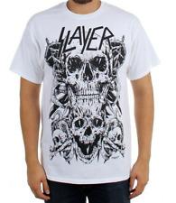 Slayer SKULLS T-Shirt White Heavy Metal Band NEW Licensed & Official