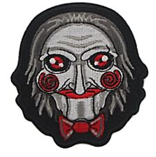 "Billy the Puppet Horror Mask 3"" Tall Embroidered Iron on Patch"