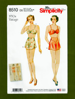 Vintage Bra and Panties Sewing Pattern~1930's (Sizes 4-12) Simplicity 8510