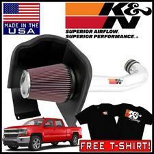 K&N 77 Series Cold Air Intake System fits 2014-19 Silverado 1500 5.3L / 6.2L V8