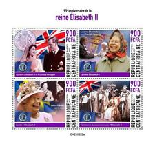 More details for central african rep 2021 mnh royalty stamps queen elizabeth ii 95th birthday 4v