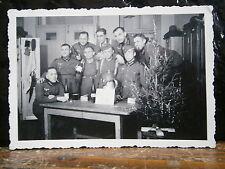 Photo argentique guerre 39 45 soldat Allemand wehrmacht WWII 2 groupe Nouvel an