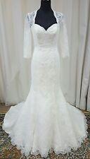 NEW Blu by Mori Lee Bridal Lace Wedding Dress 5275 Ivory Size 12