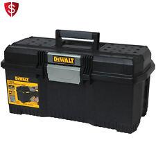 Portable Tool Box Storage Chest Organizer Tray Lockable Plastic Touch Garage