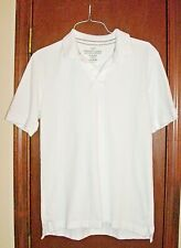 Faded Glory White Cotton Piqué Short Sleeve Polo Shirt-S-34-36