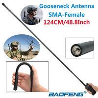 Gooseneck Female Foldable Tactical Antenna For Baofeng UV-5R UV-82 Free Shipping