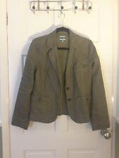 Oasis Size 14 Dark Green Linen Jacket