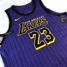 Nike Los Angeles Lakers Lebron James City Edition Jersey Sz 56 2xl Ah6213-508