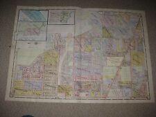 Antique 1924 Maumee Perrysburg University Of Toledo Lucas County Ohio Hndclr Map