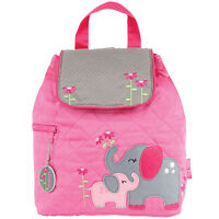 Stephen Joseph Girls Quilted Elephant Backpack - Cute Toddler Preschool Bags