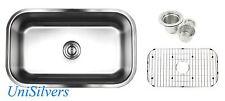 """30"""" x 18"""" x 10"""" Deep Stainless Steel 18G Undermount Single Bowl Kitchen Sink"""