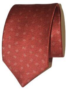 Bvlgari Signed David Pizzigoni Red Geometric Fold 7-Fold Silk Tie