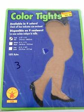 Size Small Beige Opaque Women's Nylon Tights Rubies Dance Costumes Halloween