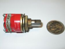 """GRAYHILL ROTARY SWITCH #71BY23036  1 POLE - 5 POSITIONS 3/4"""" OD  REFURB."""