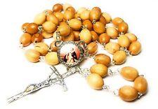 Saint Michael Sanctis wooden relic rosary patron Cancer Patients Miguel Santos