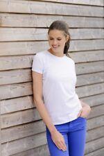 Russell Donna In Policotone HD T-shirt 165F Bianco Taglia XS Box13 35 I