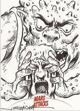 Mars Attacks Invasion - Jeff Miracola Sketch Card