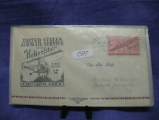 Air Mail First Flight By Helicopter Cover Chicago Area 1949 #027