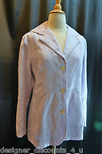 J. JILL 100% Linen Pastel lilac Light lined Blazer coat jacket Top Size SZ 8 P