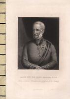 C1830 Georgiano Stampa ~ Maggiore Generale Sir Henry Havelock