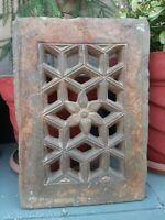 Old Ancient Stone Hand Carved Cut Design Rare Islamic Mosque Window Jali Panel