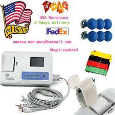 ECG300G US 3 Channel 12 lead ECG EKG machine+USB PC software Electrocardiograph,