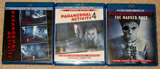 Horror Blu-ray Lot - Paranormal Activity 1-4 & The Marked Ones (Used)